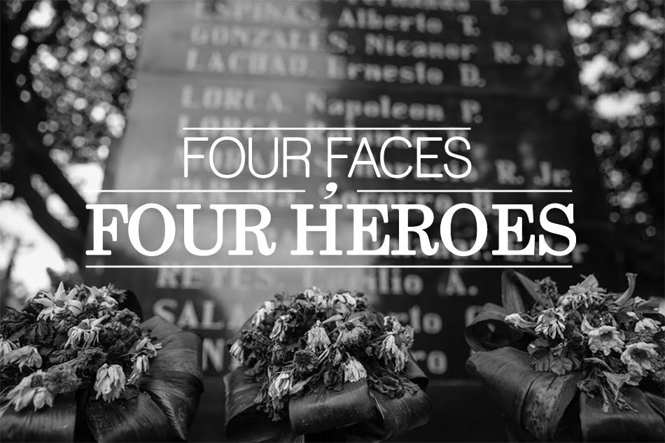 Four faces, four heroes;