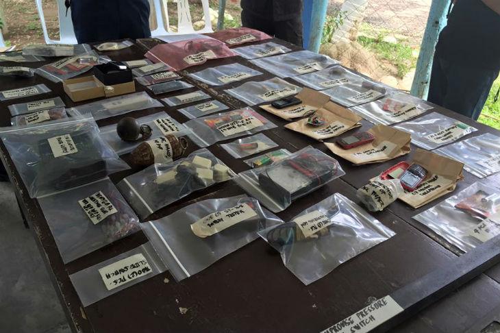 Improvised bomb components seized in North Cotabato 1