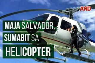 Maja Salvador, sumabit sa helicopter