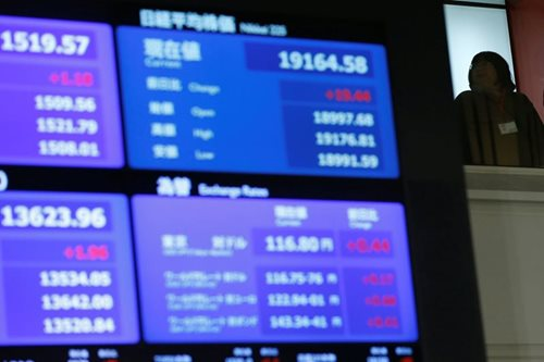 Asian shares wobble, dollar on track for losing week