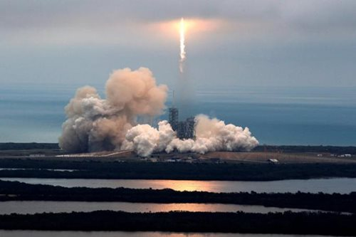 SpaceX launches rocket from historic NASA pad in Florida