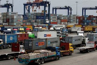 Imports fall for 1st time in 9 months