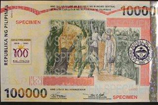 BSP to demonetize P100,000 and P2,000 commemorative bills