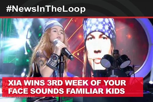 In the Loop: Xia wins 3rd week of Your Face Sounds Familiar Kids