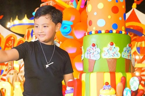 LOOK: Alonzo Muhlach celebrates 7th birthday with carnival-themed party