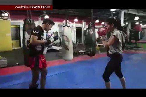 PANOORIN: Muay Thai, paraan ni Bela Padilla para manatiling fit