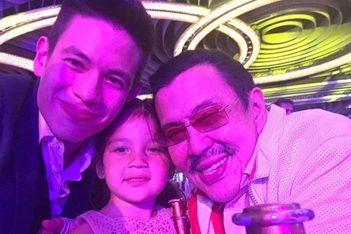 LOOK: Jake brings Ellie to Erap's birthday bash