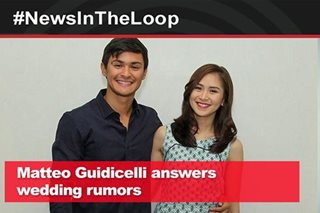 In the Loop: Matteo Guidicelli answers wedding rumors
