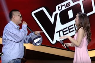 WATCH: Andrew E makes a pitch for Sharon on 'Voice Teens'