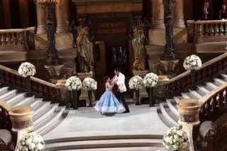 First dance of Vicki, Hayden looks straight out of a fairy tale