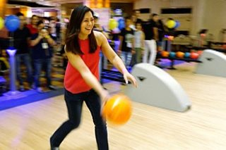 Bowling, perfect game for Alice Dixson's birthday shindig, charity work