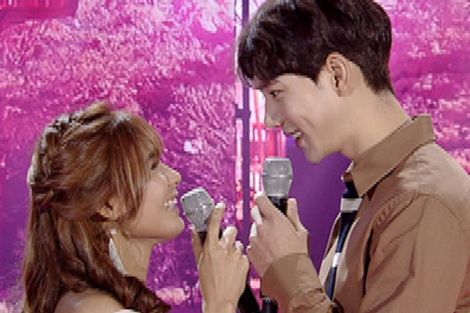 Devon Seron, Korean actor Jin Ju Hyeon in 'Fallin' duet