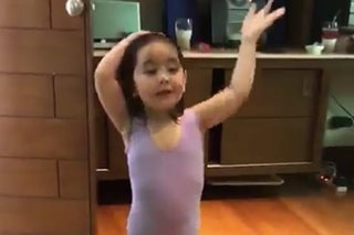 Future prima ballerina? Watch Scarlet Snow try out ballet