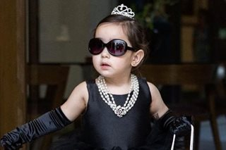 LOOK: Scarlet Snow steps out as tiny Audrey Hepburn