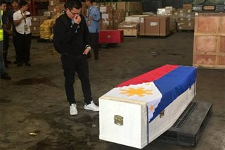 Husband weeps as Isabel Granada's remains arrive in Manila