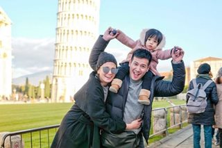 LOOK: John Prats brings Isabel, baby to Italy