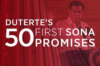 Duterte's 50 first-SONA Promises