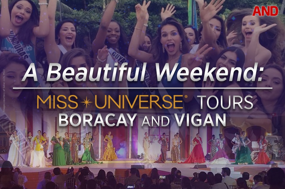 A Beautiful Weekend: Miss Universe tours Boracay and Vigan