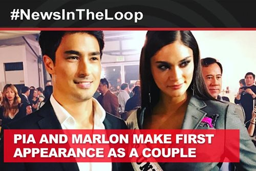 In the Loop: Pia and Marlon's first public appearance as a couple