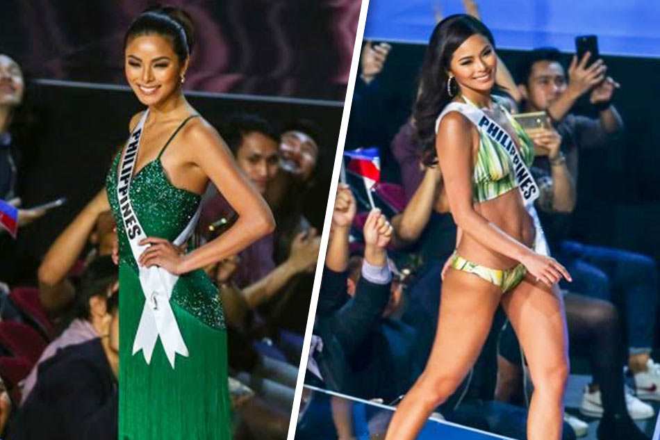 90910190fa123 Miss Universe Philippines Maxine Medina in her swimsuit and long gown  during the preliminaries of the 65th Miss Universe competition.