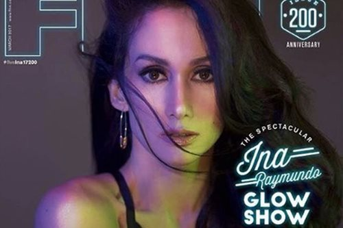 Ina Raymundo back on the cover of FHM