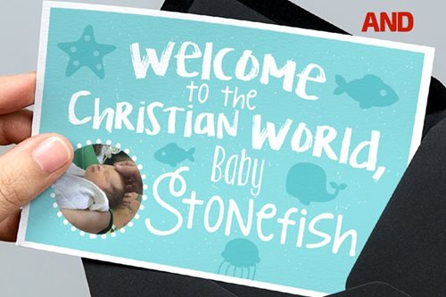 Welcome to the Christian world Baby Stonefish