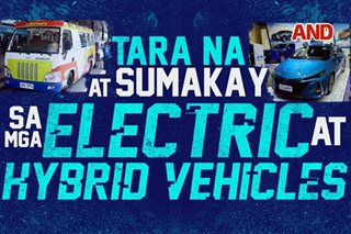 Tara na at sumakay sa mga electric at hybrid vehicles