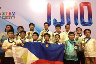 Pinoy whiz kids win 10 golds at international math tilt
