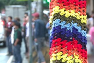 Artists fill Baguio's streets with 'yarn bombs'