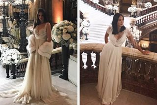 These 2 celebs wore their bridal gowns at Vicki-Hayden wedding