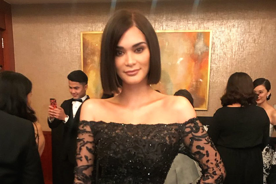 Pia Wurtzbach Evening Gown With Crown