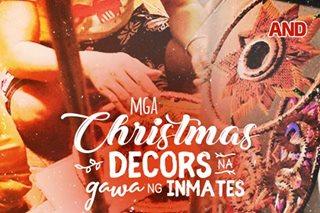 Mga Christmas decors na gawa ng inmates