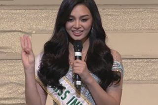 LOOK: Kylie Verzosa delivers speech during Miss International 2017