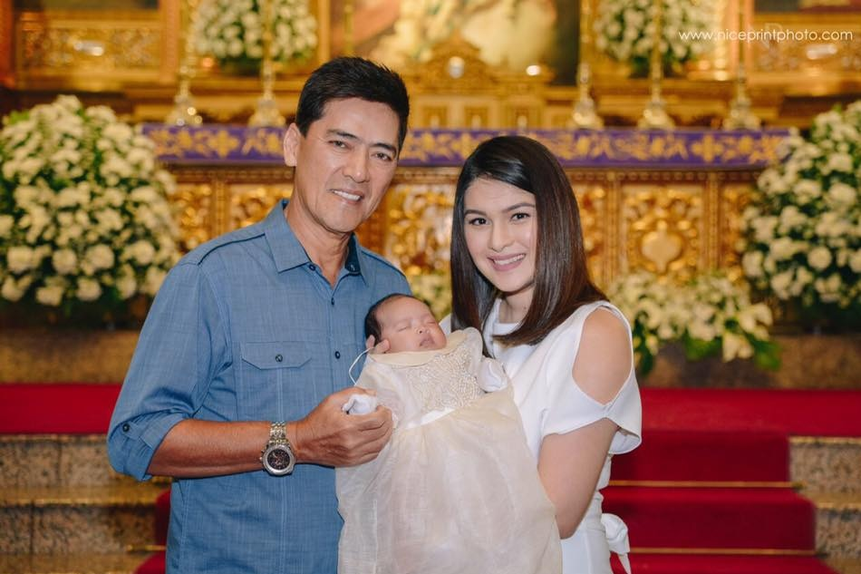 Look Vic And Pauleen S Baby Girl Baptized Abs Cbn News