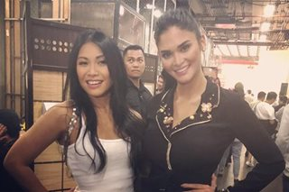 'AGT' judge Anggun takes photos with Sarah, Pia