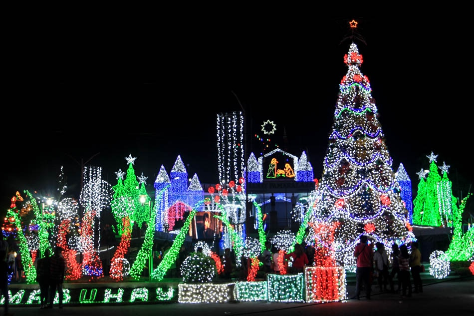 A community in Zambales celebrates Christmas