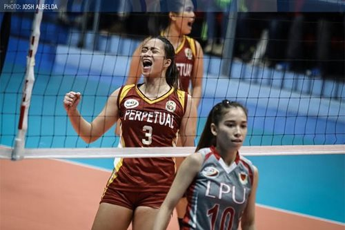 NCAA volleyball: Perpetual Help downs Lyceum, remains in Final 4 contention