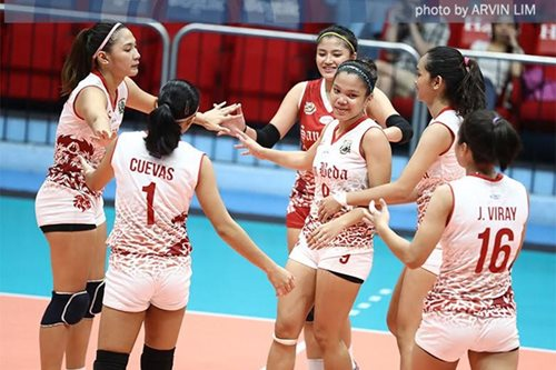 NCAA volleyball: San Beda hacks out win vs Mapua for semis playoff
