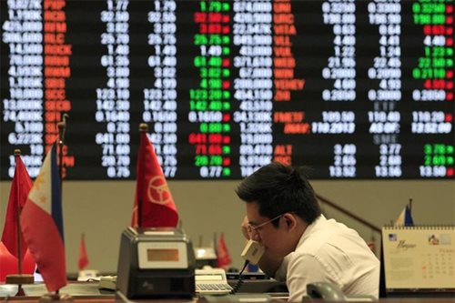 Share prices slightly higher, peso little changed