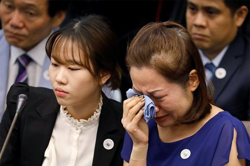 Wife of South Korean trader slain in 'tokhang for ransom' testifies in court