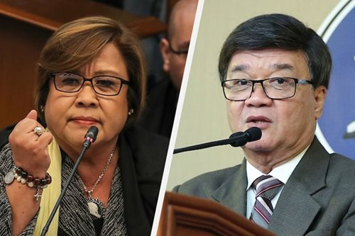 Forgive and forget? De Lima counts Aguirre's 'sins'; latter counts achievements
