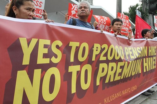 P1,000 pension hike protest