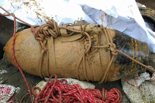 Old bomb found in Surigao City