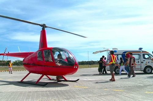 LOOK: Air ambulance takes flight in Palawan