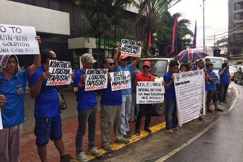 Militant groups in Cebu protests impending DOLE order