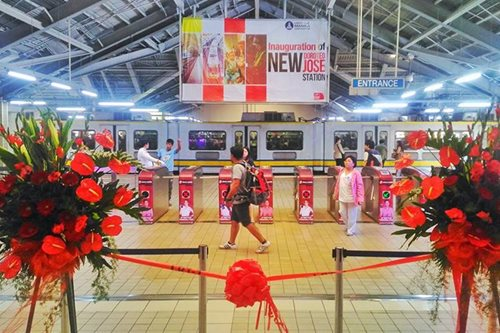 LOOK: LRT-1 Doroteo Jose station gets makeover