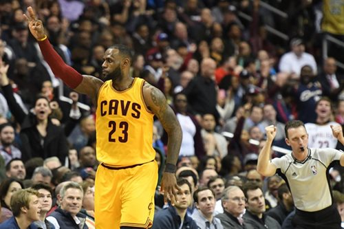WATCH: LeBron banks in triple to send game to OT