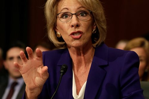 DeVos confirmed as US education secretary as Pence breaks tie