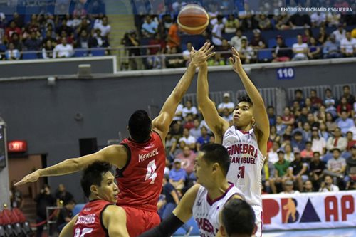 Ginebra's Mariano shines in return from ankle injury