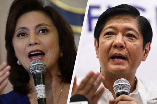 Leni insists poll victory but admits defeat to Marcos in propaganda war